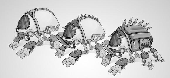 Scarab armor designs