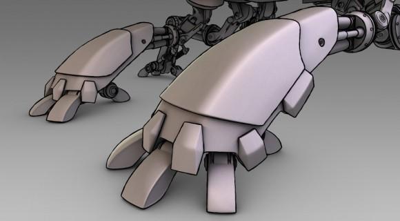 Scarab foot armor