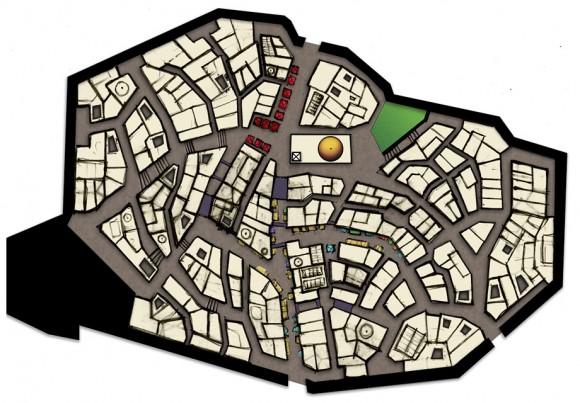 Matt Evans' hand-drawn medina map