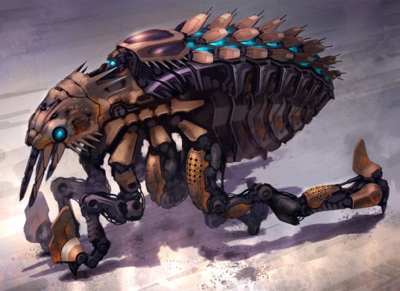Mecha-flea concept painting