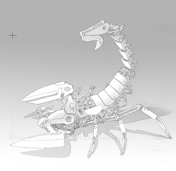 Scorpion mecha concept art