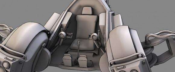 The original Scorpion cockpit looked like an autogyro's.