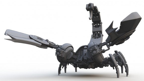 Scorpion mecha, front view