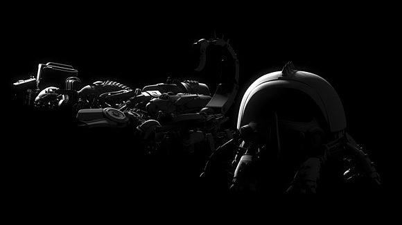 Stylized render depicting all mechas at once