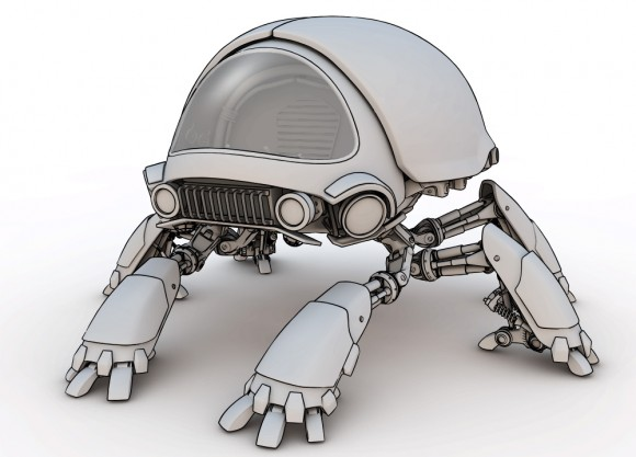 The final rendered Scarab