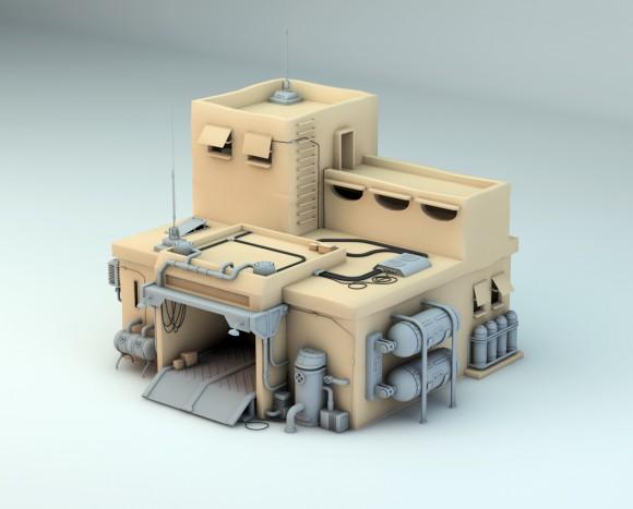 The garage 3D model