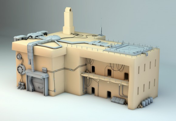 The factory 3D model