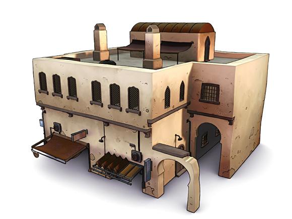 Medina shop render