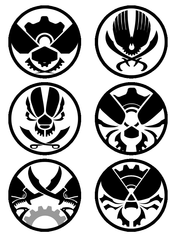 Six logos