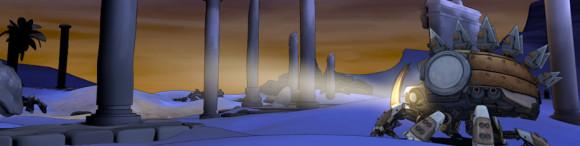 The Scarab among the ruins.