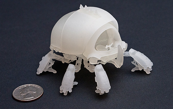 Scarab figurine, front view